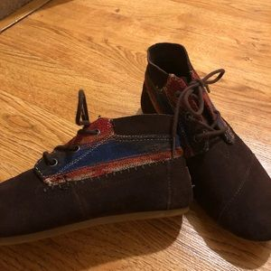 TOMS booties. Gently used condition!